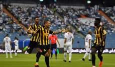 الدوري السعودي: الاتحاد يتخطى الشباب بثنائية
