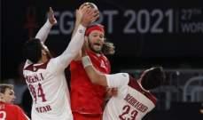 مونديال اليد: الدنمارك تتخطى قطر بفارق 9 اهداف