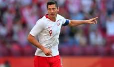 ليفاندوفيسكي يعبر عن حزنه بعد الخسارة من ايطاليا ويكشف عن اهداف المنتخب
