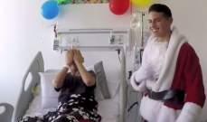 جايمس رودريغيز يزور الأطفال في المستشفى ويعايدهم