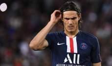 كافاني مستاء بعد غيابه عن مباراة ريال مدريد وسان جيرمان