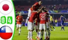 من هو افضل لاعب في مباراة تشيلي واليابان؟