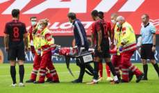 لاعب ماينز يفقد وعيه بعد تعرضه لإصابة خطيرة