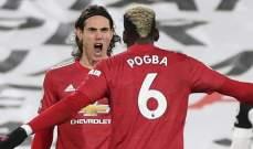 سولسكاير: آمل أن يبقى بوغبا وكافاني مع مانشستر يونايتد