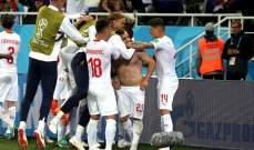 ابرز احصاءات مباراة سويسرا وصربيا