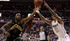 NBA PLAYOFFS : رابتورز يفوز على وزيردز ويكسب السلسلة