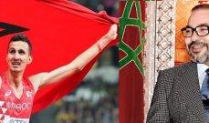 ملك المغرب يهنئ العداء البقالي بمناسبة تتويجه بذهبية الاولمبياد