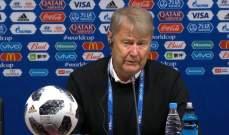 مدرب الدنمارك : الحظ وقف الى جانبنا في لقاء بيرو