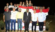 بطولة غرب آسيا بألعاب القوى: لبنان يتزعم الترتيب ب 11 ميدالية ذهبية