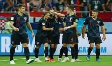 كرواتيا تواجه انكلترا بالزي الاحتياطي