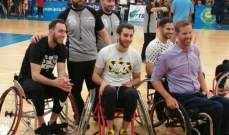 خاص: وائل عرقجي سعيد لخوضه مباراة ودية في كرة السلة للكراسي المتحركة