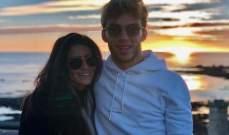بيار غازلي مع حبيبته في فرنسا