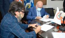 توقيع عقد المدرب الاسباني دياز لتولي مهمته في منتخب لبنان لكرة الصالات وكلمة ترحيبية لحيدر