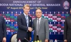 هوندا مدربا لمنتخب كمبوديا الى جانب اللعب مع فريقه الاسترالي
