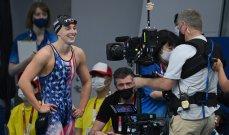 ذهبية  أميركية جديدة في طوكيو 2020 للسباحة كايتي ليديكي في 800 م حرة