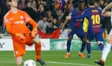 ميسي في مئويته يبعثر دفاعات البلوز ليعبر ببرشلونة الى ربع النهائي
