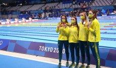 أولمبياد طوكيو-سباحة: ماكيون تقود أستراليا إلى ذهبية التتابع أربع مرات 100 م متنوعة