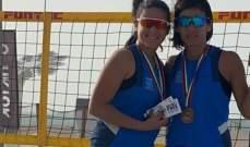 دورة دبي دولية بـالكرة الطائرة الشاطئية: برونزية لميرفت حمزة وميرنا شيخو