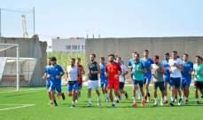 لاعبو طرابلس في التدريبات