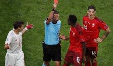 جيسوس لعب الكونغ فو واستحق الطرد وحالة غريبة في مباراة اسبانيا وسويسرا