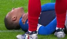 ضربة قوية لباريس سان جيرمان فبعد اصابة نيمار مع البرازيل مبابي بصاب مع فرنسا