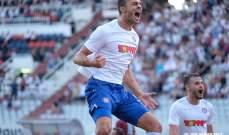 لاعب لبنان يسجل هدفًا في الدوري الاوروبي