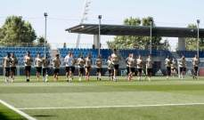 ريال مدريد يجري تدريباته بغياب عدداً من اللاعبين