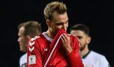 استبعاد إريكسن من تشكيلة المنتخب الدنماركي
