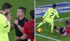 برشلونة يعترض على قرار الحكم بينما VAR تؤكّد أصحيته