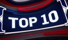 افضل 10  لقطات في مباريات 15 كانون الثاني في NBA