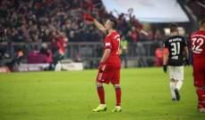 البوندسليغا : ريبيري يمنح البايرن فوزاً صعباً على لايبزيغ وتعادل لـ فرانكفورت امام ماينز