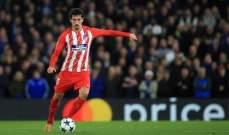 مدافع اتلتيكو مدريد يعود مصابا بعد تأدية واجبه الوطني