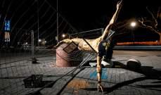 دمار هائل يلحق بتمثال ابراهيموفيتش في مالمو
