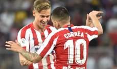 علامات لاعبي مباراة برشلونة - اتلتيكو مدريد
