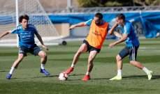 ايسكو يواصل العمل منفرداً ووجه جديد في تدريبات ريال مدريد
