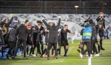 إحتفال جنوني لمونشنغلادباخ بعد السقوط بمعقل ريال مدريد