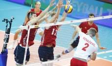 بطولة العالم للكرة الطائرة : فوز بلجيكا وبولندا وانتصار صعب لاميركا