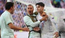 ارقام واحصاءات بعد مباراة ايطاليا واسبانيا