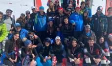 بطولة لبنان في التزلج الألبي  نتائج الرجال والسيدات والناشئين