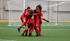 ناشئات لبنان يقتربن من الدور الثاني في تصفيات كاس اسيا لكرة القدم