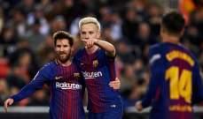 ارقام واحصاءات من مباراة  برشلونة وفالنسيا في اياب الكأس