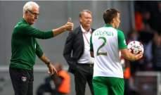 مدرب ايرلندا سعيد بالتعادل
