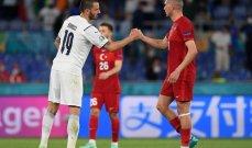 يورو 2020: ايطاليا تتصدر المجموعة الاولى بعد نهاية اولى الجولات