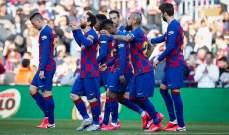 لاعبو برشلونة سيخضعون لاجراءات فحص فيروس كورونا قبل الدخول لنابولي