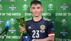 غيلمور رجل مباراة اسكتلندا وانكلترا : فخور بالظهور الاول مع  منتخب بلادي