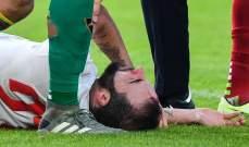 إصابة قوية في الرأس لمهاجم يوفنتوس غونزالو هيغواين