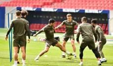 نجم اتلتيكو مدريد يغيب عن المران استعداداً للديربي