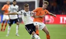 أرقام سلبية لألمانيا أمام هولندا بعد السقوط الاخير