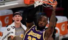 NBA: الليكرز يقلص الفارق مع يوتا بعد الفوز على تشارلوت