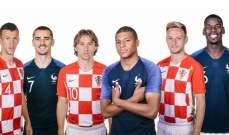التشكيلات الرسمية لنهائي كأس العالم 2018 بين فرنسا وكرواتيا